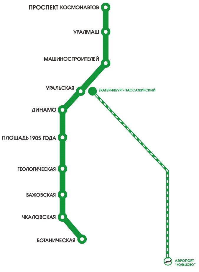 Карта метро города