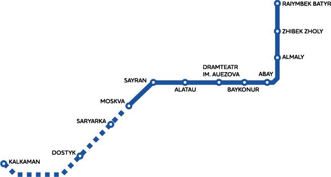 Карта метро города Алматы