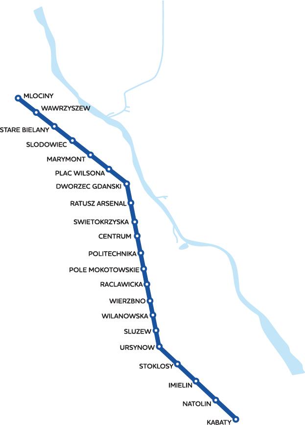 Карта метро города Варшава